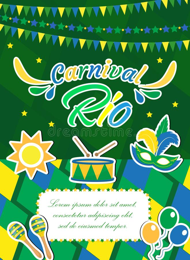 Welcome Brazil Carnival Poster, Invitation, Flyer Templates For