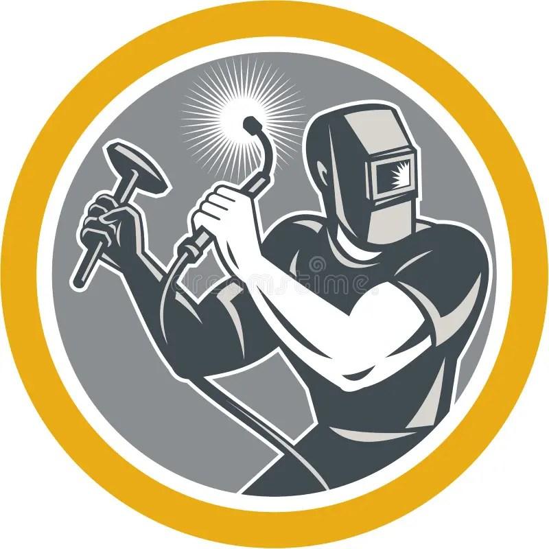 Welder Fabricator Welding Torch Hammer Stock Vector - Illustration - welder fabricator