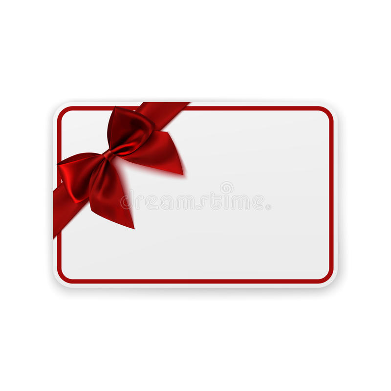 White Blank Gift Card Template Stock Vector - Illustration of - gift card templates