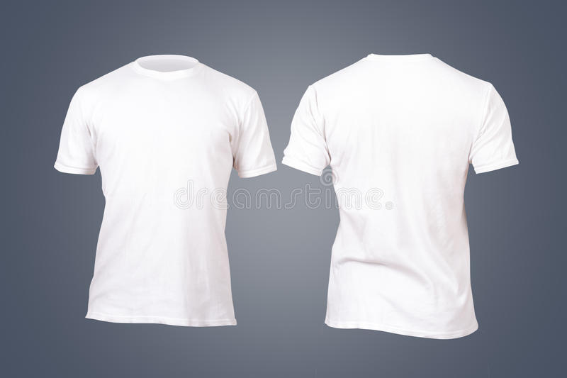White Tshirt Template stock photo Image of blank, clothing - 40036694