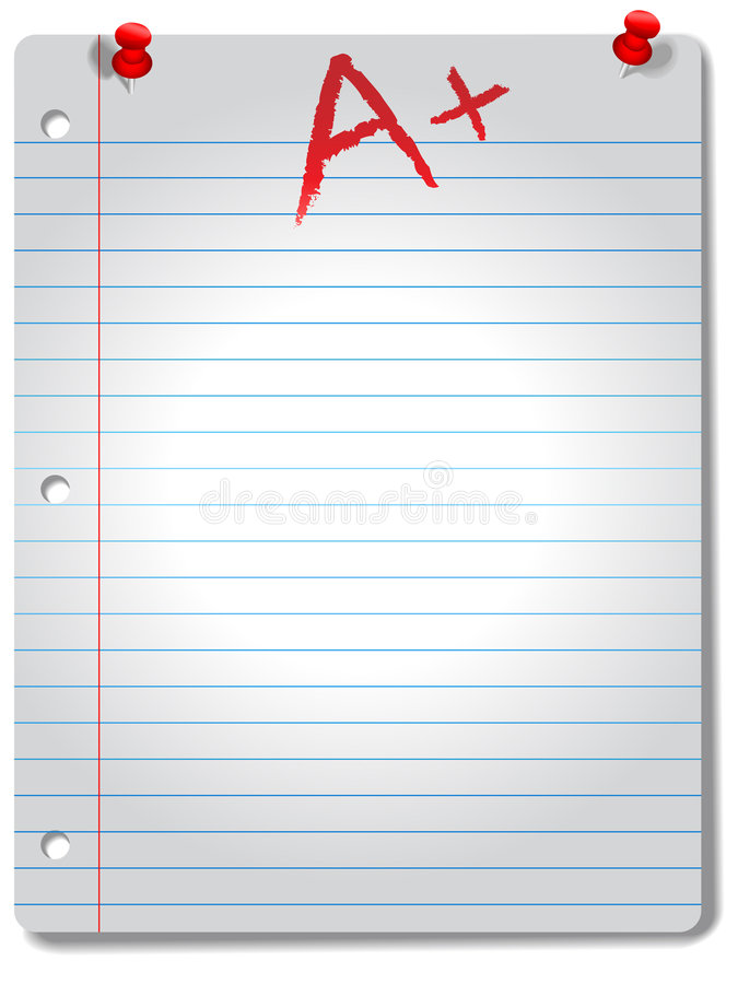 Wide Ruled Notebook Paper Pages Tacks  Grade Stock Vector - notebook paper download