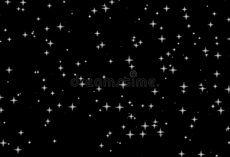 Wallpaper Falling Stars Witte Sterren Zwarte Nacht Royalty Vrije Stock Fotografie