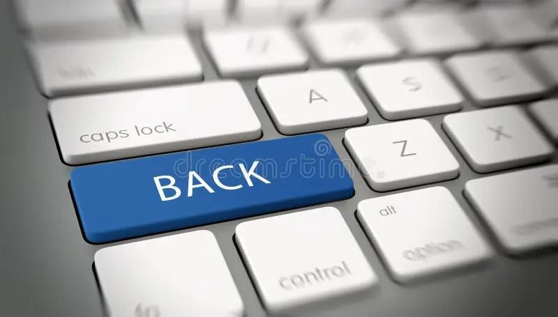 Word BACK On A Key On A Modern Keyboard Stock Illustration