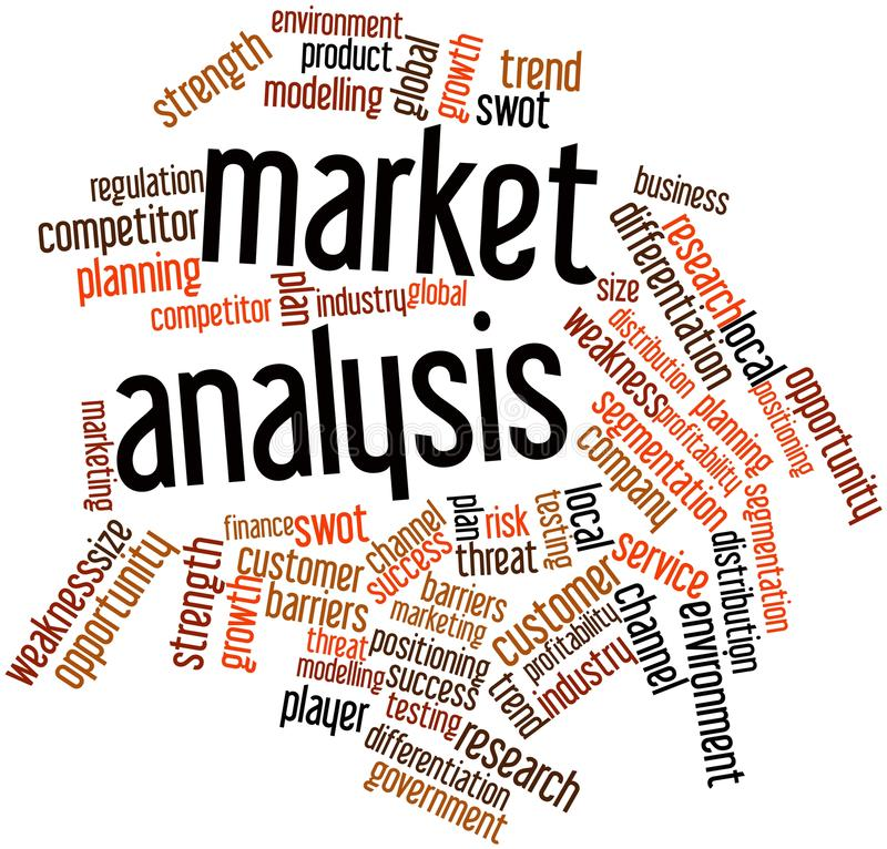 Word Cloud For Market Analysis Stock Illustration - Illustration of