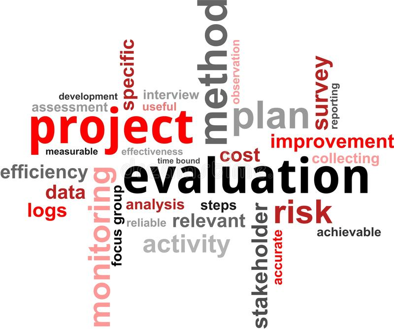 Word Cloud - Project Evaluation Stock Vector - Illustration of - project evaluation