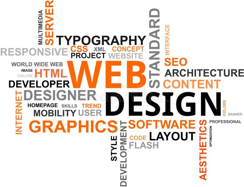 Word cloud - web design stock vector Illustration of graphics