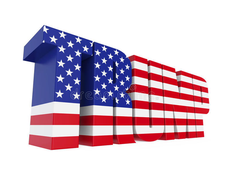 Word `TRUMP` With United States Flag Stock Illustration - word flag