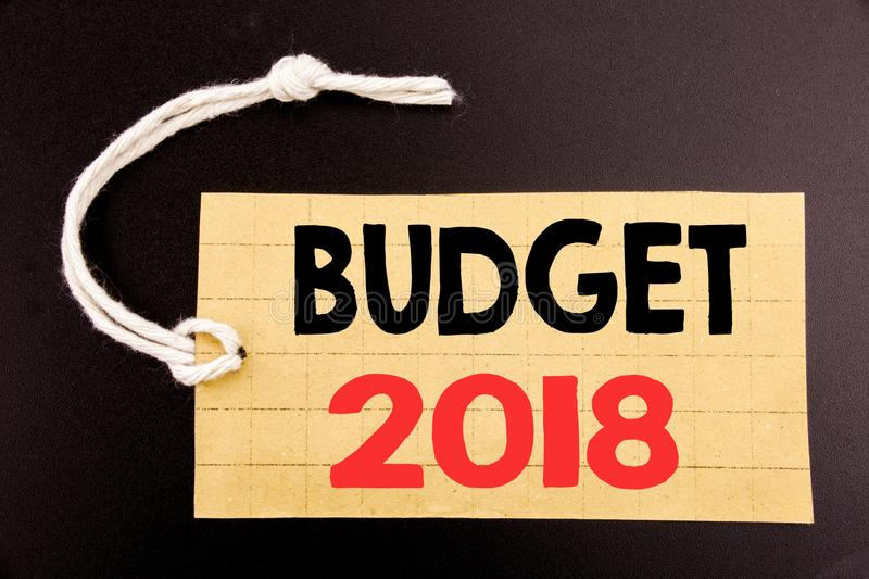 Word, Writing Budget 2018 Business Concept For Online SaleHousehold