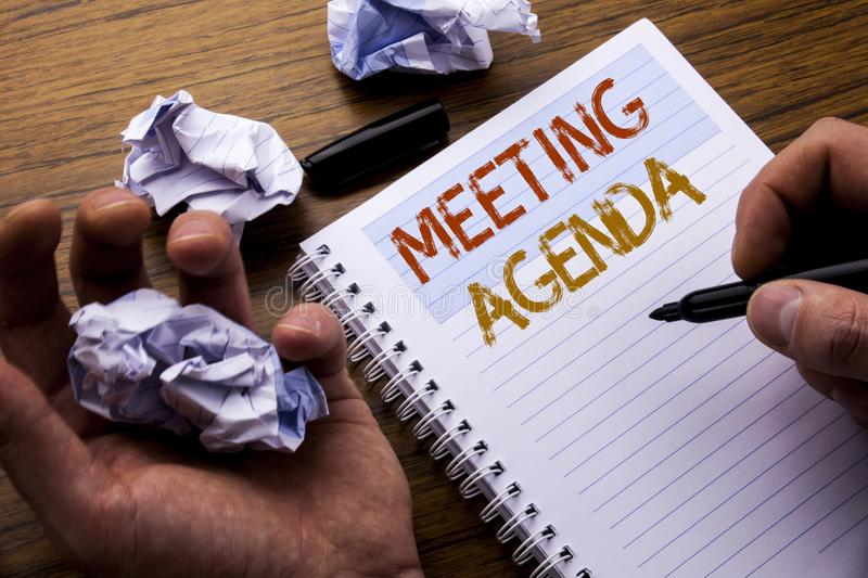 Word, Writing Meeting Agenda Concept For Business Schedule Plan - meeting note pad