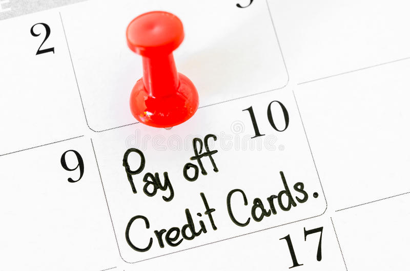The Words Pay Off Credit Cards Stock Photo - Image of memo, bank - how to pay off credit card