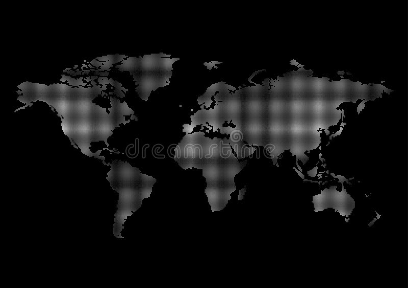 World map black background stock vector Illustration of globes