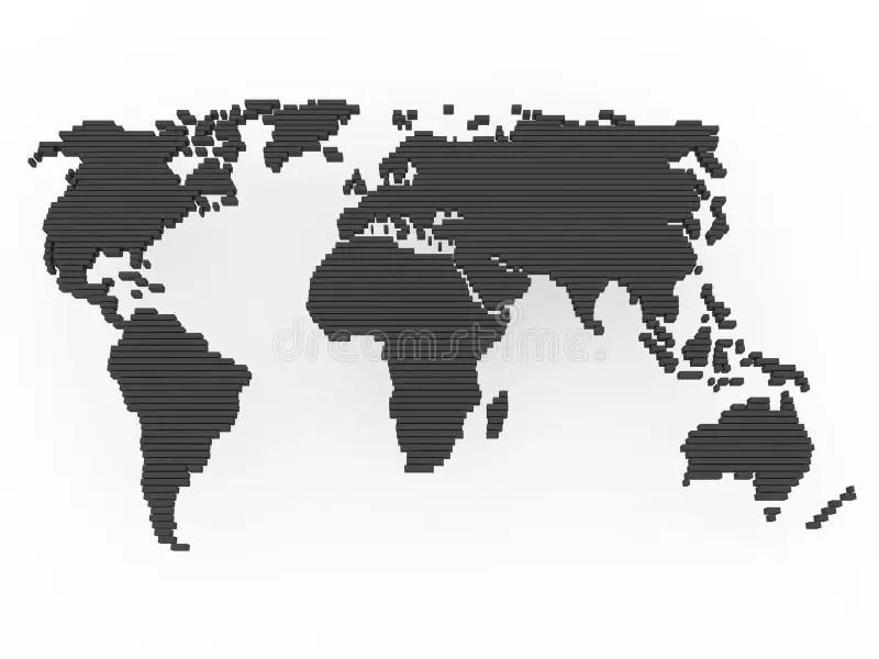 World map black grey stock illustration Illustration of globe