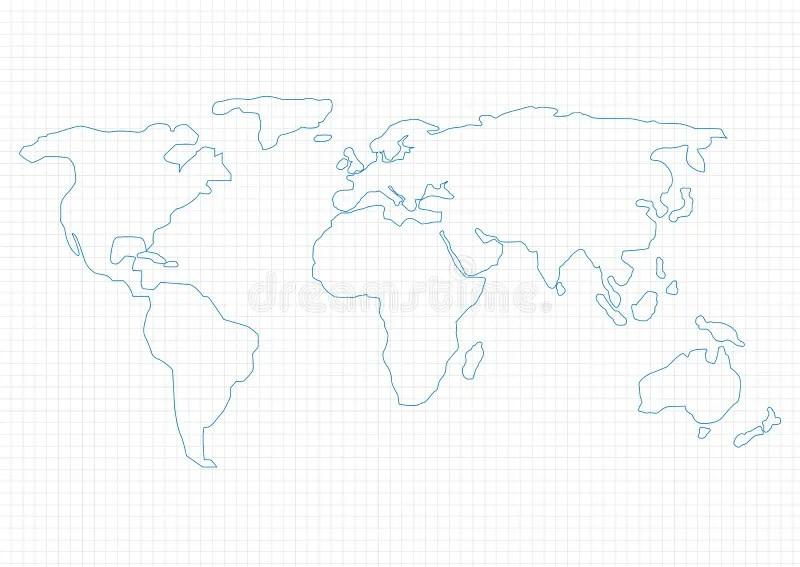World map stock vector Illustration of digital, design - 57570153 - digital graph paper