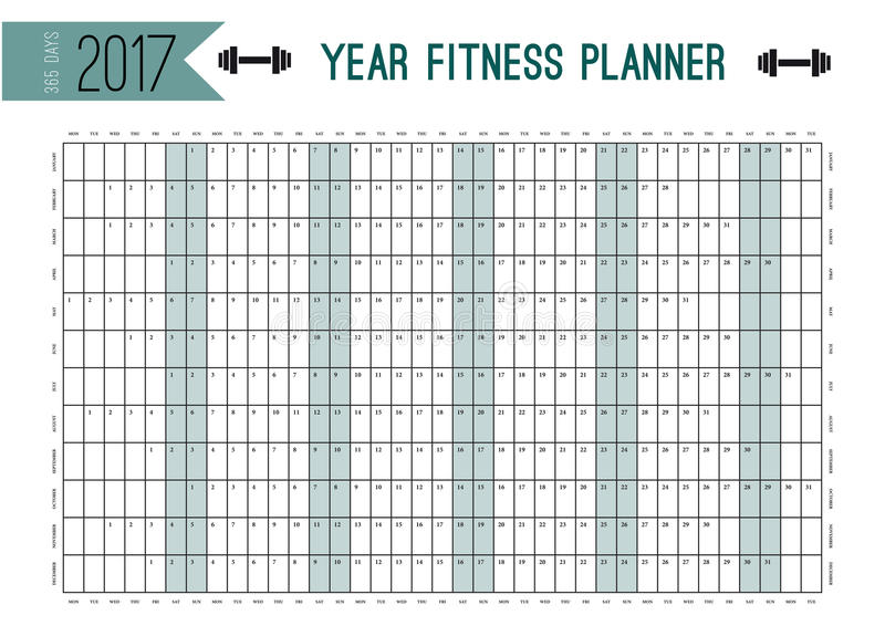 Year Wall Planner Template Plan Out Your Whole Fitness With This - fitness plan template