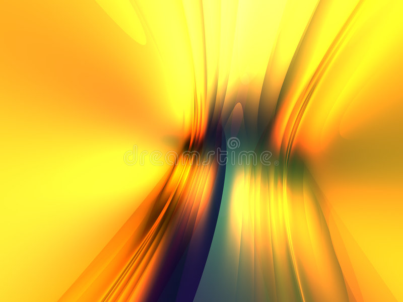 3d Liquid Abstract Wallpaper Yellow Blue Light Abstract Background 3d Render Stock