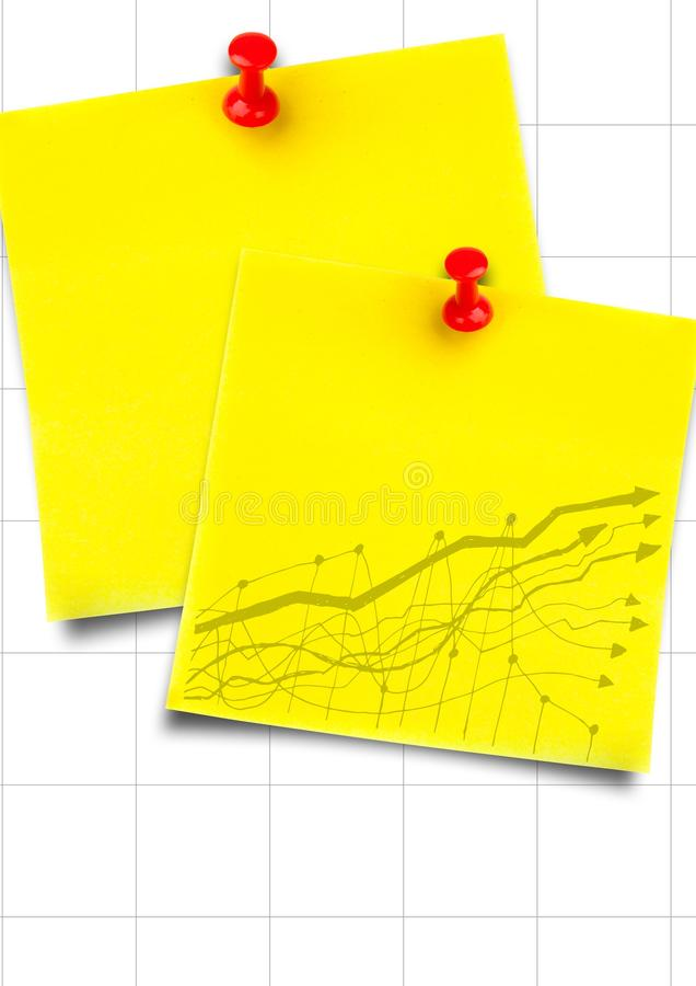 Yellow Sticky Notes With Yellow Graph Against White Graph Paper - digital graph paper