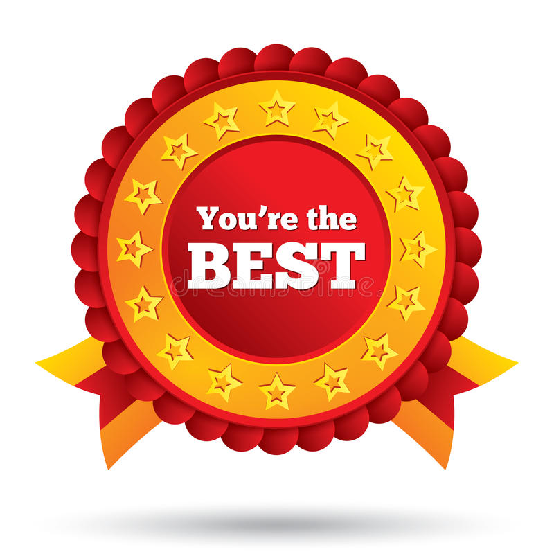 You Are The Best Icon Customer Service Award Stock Illustration