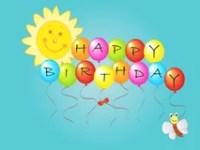 Sun- Und Geburtstagsgre Vektor Abbildung - Bild: 71033103