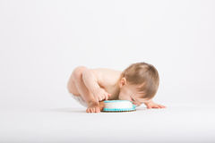 Baby39s Face With Cake Stock Image Image Of Food Sweet