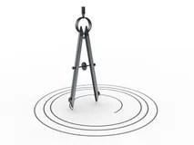 Drafting Compass Drawing Plan Design Circle Stock Vector