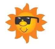 Glckliche Sonne Lizenzfreie Stockfotos