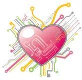 heart circuit stock photos image 11129843