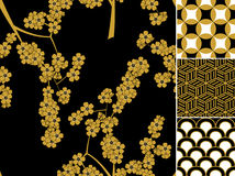 Japanese traditional pattern set royalty free stock images