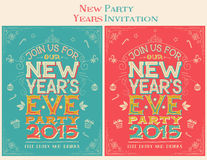 New Year39s Eve Party Invitation Ticket Stock Vector