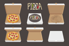 Whole Pizza Vector Illustration Stock Vector