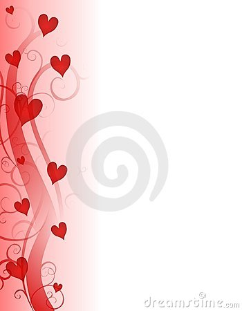 Red Valentine\u0027s Day Hearts Page Border - 's day borders