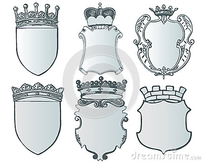 Heraldic element collection and Coat of arms template