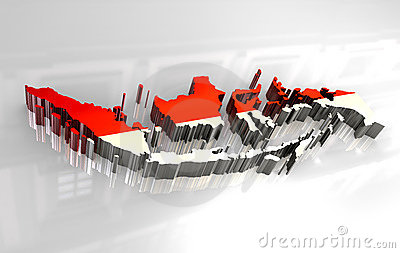 Wallpaper 3d Animation Free Download 3d Map Flag Of Indonesia Stock Photos Image 8127823