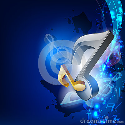3d Abstract Wallpapers Free Download 3d Music Notes On Blue Wave Background Royalty Free Stock