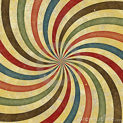 Wallpaper Brick 3d 60 S 70 S Retro Swirl Funky Wild Spiral Rays Stock Image