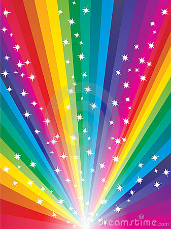 3d Wallpaper Gift Abstract Rainbow Background Stock Image Image 10705061