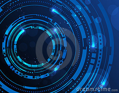 Matrix 3d Wallpaper Free Download Abstract Technology Circles Background Stock Photography
