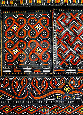 Tribal Wallpaper 3d African Native Art On Window Royalty Free Stock Photo