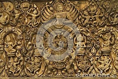 Hindu God Animation Wallpaper Free Angkor Wat Art Of Ancient Hindu God Stone Royalty Free