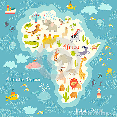 Africa 3d Pro Live Wallpaper Animals World Map Africa Beautiful Cheerful Colorful