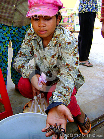 poor young cambodian girl
