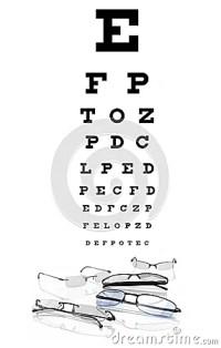 Augendiagramm Mit Brillen Stockbilder - Bild: 18401504