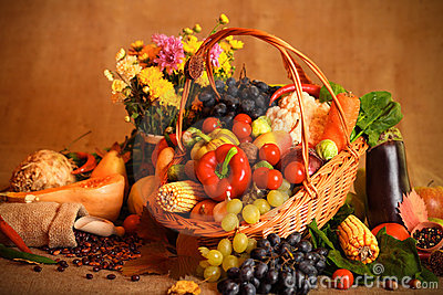 3d Fruit Wallpaper Autumn Fruits And Vegetables Stock Photography Image