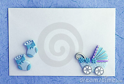Wallpaper Girl Boy Holding Hands Baby Boy Announcement Card Royalty Free Stock Images