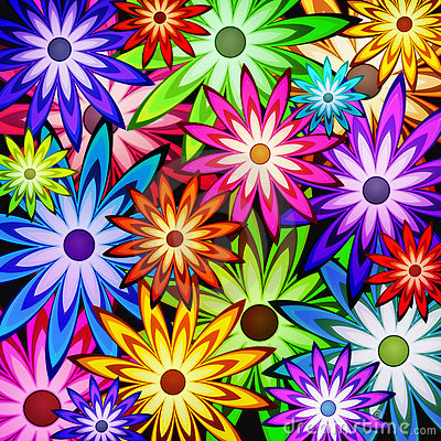 I Love You Heart Wallpaper 3d Animation Background Of Flower Power Royalty Free Stock Photography
