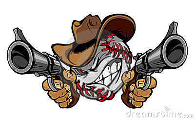 Indian Team 3d Wallpaper Baseball Cowboy Illustration Logo Royalty Free Stock Image