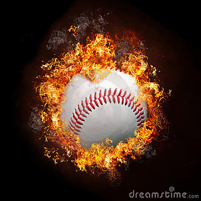 3d Fire Wallpaper Background Baseball On Fire Stock Photos Image 22792553