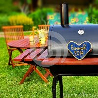 BBQ Summer Backyard Party Scene Stock Photo - Image: 41653609
