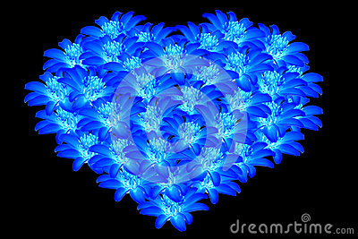 Magic 3d Wallpapers Free Download Beautiful Blue Flowers Heart Shaped 2 Royalty Free Stock