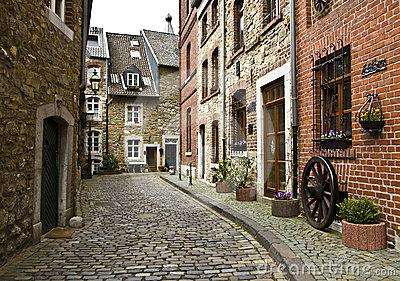 Beautiful Wallpapers 3d Animation Beautiful Old Street In Germany Royalty Free Stock Photo