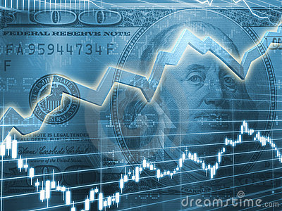 3d Logo Wallpaper Ben Franklin With Stock Market Graph Stock Images Image
